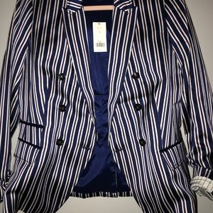 Brand new pinstriped Banana Republic Blazer